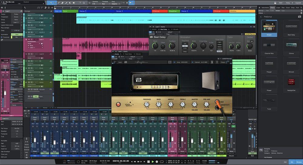 نرم افزار آهنگ سازی PreSonus Studio One Prime