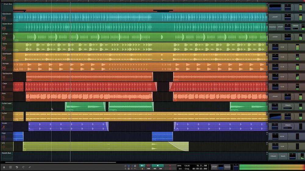 نرم افزار آهنگسازی Tracktion Software Waveform Free